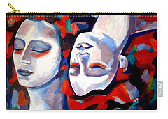 Carry-all Pouch featuring the painting Time Goes By by Helena Wierzbicki