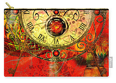 Time Passes Carry-all Pouch by Ally  White