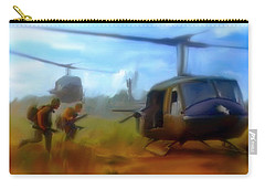 Time Sacrificed II Vietnam Veterans  Carry-all Pouch by Iconic Images Art Gallery David Pucciarelli
