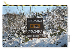 Carry-all Pouch featuring the photograph Time To Change The Sign by David S Reynolds