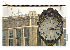 Carry-all Pouch featuring the photograph Time To Visit Paris by Dee Dee  Whittle