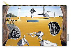 Carry-all Pouch featuring the painting Time Travel by Ryan Demaree