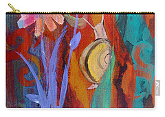 Carry-all Pouch featuring the painting Time Traveler by Robin Maria Pedrero