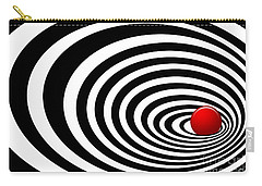 Time Tunnel Op Art Carry-all Pouch by Methune Hively