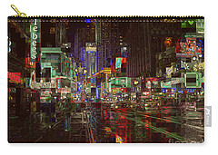 Times Square At Night - After The Rain Carry-all Pouch