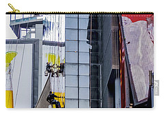 Times Square Window Washers Carry-all Pouch by Jon Woodhams