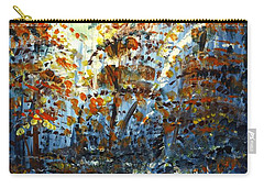 Carry-all Pouch featuring the painting Tim's Autumn Trees by Holly Carmichael