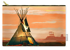 Tipi Or Tepee Monument Valley Carry-all Pouch