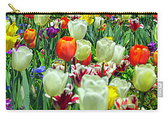 Tiptoe Through The Tulips Carry-all Pouch by Elizabeth Dow