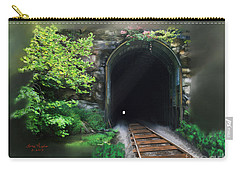Tiptop Train Tunnel Carry-all Pouch by Lena Auxier