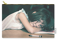Tired Girl By Jan Marvin Carry-all Pouch