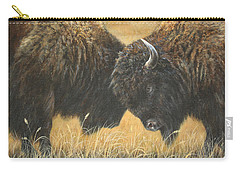 Carry-all Pouch featuring the painting Titans Of The Plains by Kim Lockman
