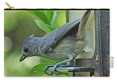 Carry-all Pouch featuring the photograph Titmouse by Lizi Beard-Ward