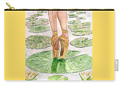 Carry-all Pouch featuring the painting To Dance by Angela Davies