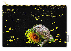 Toad In A Lions Den Carry-all Pouch by Mike Breau