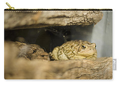Toad In The Hole Carry-all Pouch by Heather Applegate