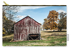 Carry-all Pouch featuring the photograph Tobacco Barn Ready For Smoking by Debbie Green