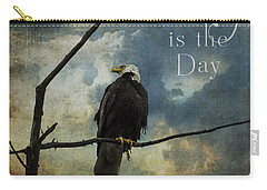 Today Is The Day - Inspirational Art By Jordan Blackstone Carry-all Pouch by Jordan Blackstone