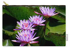 Together We Bloom - Violet Lily Carry-all Pouch