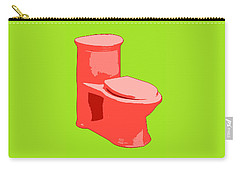 Toilette In Red Carry-all Pouch
