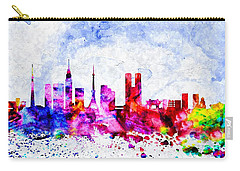 Tokyo Watercolor Carry-all Pouch by Daniel Janda