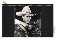 Tom Mix Portrait Melbourne Spurr Hollywood California C.1925-2013 Carry-all Pouch by David Lee Guss