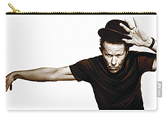 Tom Waits Artwork  4 Carry-all Pouch by Sheraz A