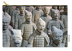 Carry-all Pouch featuring the photograph Tomb Warriors by Robert Meanor
