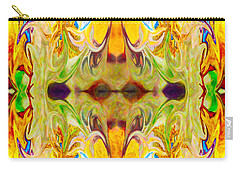 Carry-all Pouch featuring the digital art Tony's Tower Abstract Pattern Artwork By Tony Witkowski by Omaste Witkowski