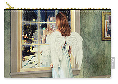 Too Cold For Angels Carry-all Pouch by Linda Lees