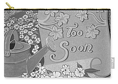 Carry-all Pouch featuring the digital art Toosoon by Carol Jacobs