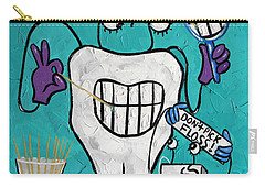 Carry-all Pouch featuring the painting Tooth Pick Dental Art By Anthony Falbo by Anthony Falbo