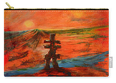 Carry-all Pouch featuring the painting Top Of The World by Sher Nasser