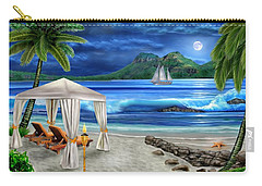 Tropical Paradise Carry-all Pouch by Glenn Holbrook