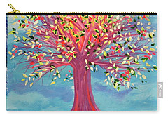 Carry-all Pouch featuring the painting Tori's Tree By Jrr by First Star Art