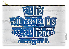 Toronto Maple Leafs Hockey Team Retro Logo Vintage Recycled Ontario Canada License Plate Art Carry-all Pouch
