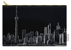 Toronto Skyline Black And White Abstract Carry-all Pouch