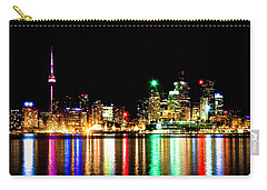 Carry-all Pouch featuring the photograph Toronto Skyline Night by Brian Carson