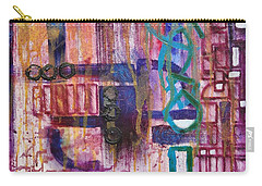 Carry-all Pouch featuring the painting Tortured Links by Jason Williamson