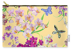 Tossed Orchids Carry-all Pouch by Kimberly McSparran