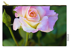 Carry-all Pouch featuring the photograph Rose-touch Me Softly by David Millenheft