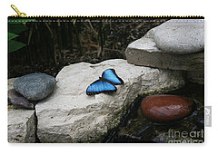 Touch Of Blue Carry-all Pouch by Judy Whitton