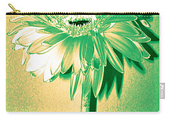 Touch Of Turquoise Zinnia Carry-all Pouch by Sherry Allen