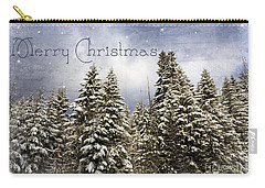 Touch Of Winter - Merry Christmas Carry-all Pouch