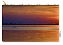 Tours End - Kayak Sunset Photo Carry-all Pouch