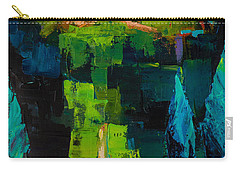 Carry-all Pouch featuring the painting Toward The Tuscan Village by Elise Palmigiani