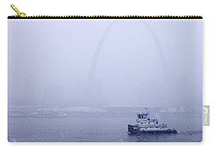 Towboat Working In The Snow St Louis Carry-all Pouch