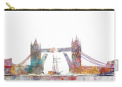 Tower Bridge Colorsplash Carry-all Pouch by Aimee Stewart