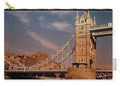 Tower Bridge Sunset Carry-all Pouch by Jonah  Anderson