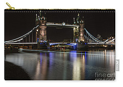 Tower Bridge With Boat Trails Carry-all Pouch